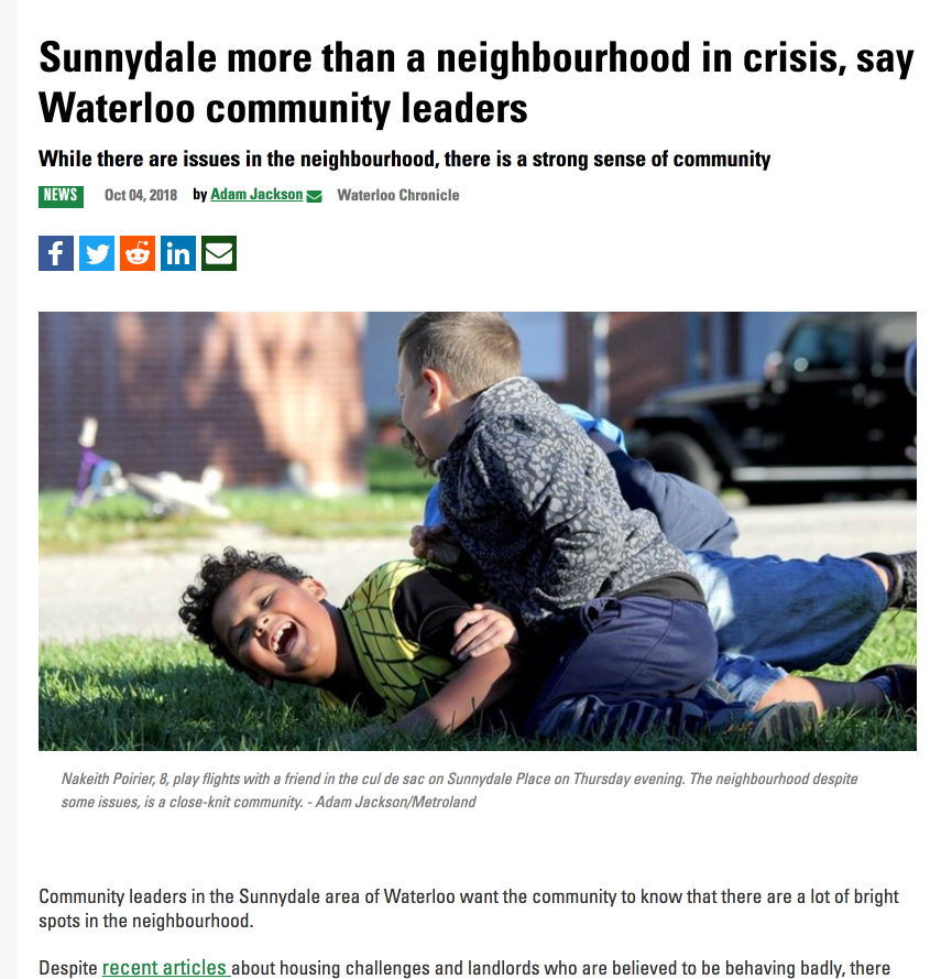 Sunnydale more than a neighbourhood in crisis | Adventure 4 Change